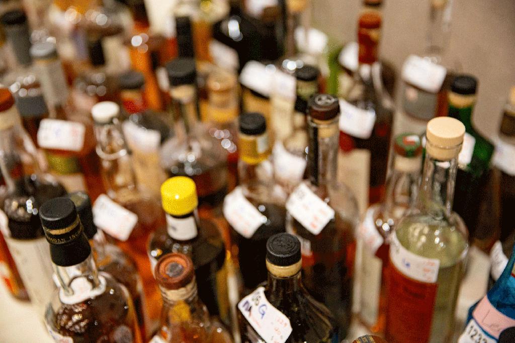 bottle shots table